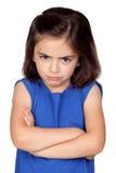 trochę gniewna dziewczyna Fotografia Royalty Free