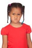trochę gniewna dziewczyna Obraz Stock