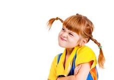 trochę gniewna dziewczyna Zdjęcie Royalty Free