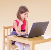 trochę komputerowa dziewczyna Obraz Stock