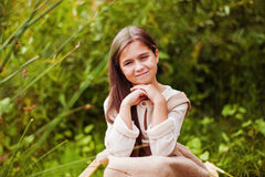 trochę lasowa dziewczyna Zdjęcia Royalty Free