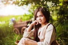 trochę lasowa dziewczyna Fotografia Royalty Free