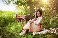 trochę lasowa dziewczyna Zdjęcia Stock