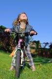 trochę rowerowa dziewczyna Obrazy Stock