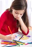 trochę rysunkowa dziewczyna Zdjęcie Royalty Free