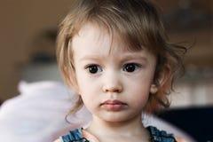 trochę smutna dziewczyna Fotografia Royalty Free