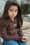 trochę smutna dziewczyna Obraz Royalty Free