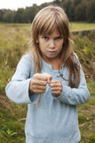 trochę zabawy gniewna dziewczyna Zdjęcia Stock