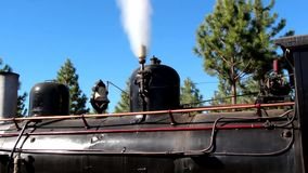 The Trochita Patagonia, steam locomotive. Detail Trochita whistle in the train, in Patagonia, Esquel, Argentina stock video