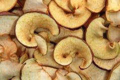 Trockene Apfelchips Stockbild