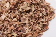 Trockene Bael-Fruchttee Aegle-marmelos lokalisiert auf weißem Hintergrund Lizenzfreie Stockfotografie