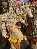 Trockene Bai Si King von Naga in der Nordost-Thailand-Feiertraditionskultur Stockfotografie