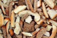 Trockene Brotscheiben Lizenzfreies Stockfoto