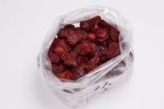 Trockene Erdbeeren Stockfoto