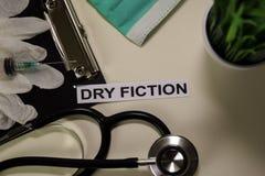 Trockene Erfindung mit Inspiration und Gesundheitswesen/medizinisches Konzept auf Schreibtischhintergrund stockfotografie