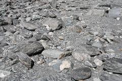 Trockene Flussbettbeschaffenheit Stockbild