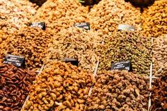 Trockene Früchte für Verkauf im Markt Stockfotografie
