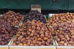 Trockene Früchte und Gewürze mögen Acajoubäume, Rosinen, Nelken, Anis, usw. Lizenzfreie Stockbilder