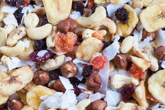 Trockene Früchte und Muttern Stockfotografie