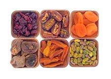 Trockene Frucht und Nüsse Stockfoto