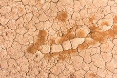 Trockene gebrochene Erde der Beschaffenheit Lizenzfreies Stockbild
