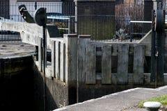 Trockene geschlossene Schleusentoren Lizenzfreies Stockbild