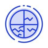 Trockene Haut, Haut, Hautpflege, Haut, Linie Ikone der Hautschutz-blauen punktierten Linie lizenzfreie abbildung
