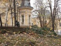 Trockene Herbstbäume auf einem allgemeinen Park in Sofia, Bulgarien Stockbilder