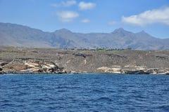 Trockene Küstenansicht in Costa Adeje, Teneriffa, Kanarische Inseln Stockbild