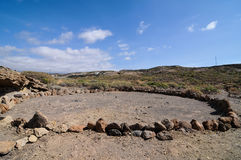 Trockene Landschaft Stockfoto