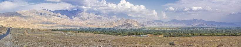 Trockene Landschaft in Afghanistan Lizenzfreie Stockfotografie
