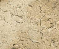 Trockene Lehmbeschaffenheit als Hintergrund Lizenzfreies Stockbild