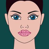 Trockene Lippen stock abbildung