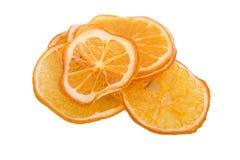 Trockene Orange auf weißem Hintergrund Stockbilder