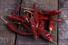Trockene rote Paprikas Stockfotos