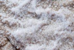 Trockene Salzseeunterseite voll der Beschaffenheit Lizenzfreies Stockbild