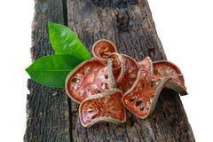Trockene Scheiben von Bael-Frucht (Aegle-marmelos) Stockfotos