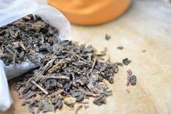 Trockene Teeblätter Lizenzfreie Stockfotografie