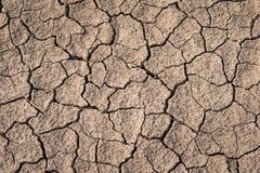 Trockene und gebrochene Erdbeschaffenheit Globaler Klimawandel Stockbilder