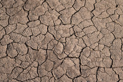 Trockene und gebrochene Erdbeschaffenheit Globaler Klimawandel Lizenzfreie Stockfotos