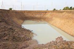 Trockene Wasservertiefungen. Lizenzfreie Stockfotos