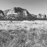 Trockene Wüstenlandschaft von Sedona USA Stockbilder