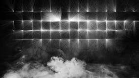 Trockeneisrauchwolken nebeln Bodenbeschaffenheit ein Weißer perfekter sportlight Nebeleffekt auf lokalisierten schwarzen Hintergr vektor abbildung