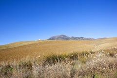 Trockener Abhangpflugboden von Andalusien Stockfotografie