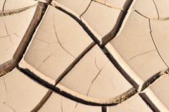 Trockener Boden in der Wüste Stockbilder