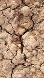 Trockener Boden gebrochen Lizenzfreies Stockfoto