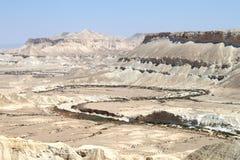 Trockener Fluss über der Wüste Stockfotografie