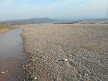 Trockener Fluss Stockfotografie