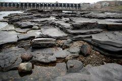 Trockener Fluss und Verdammung Stockbild