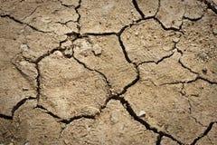 Trockener gebrochener Boden Stockbild